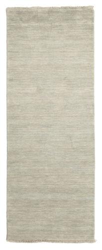 Handloom fringes - Grey / Light Green carpet CVD14004