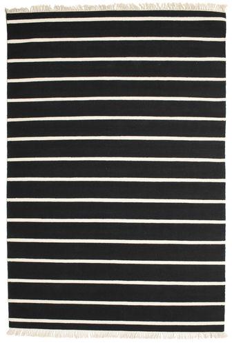 Dhurrie Stripe - Black / White carpet CVD13962