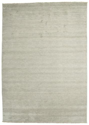 Handloom fringes - Grey / Light Green carpet CVD13990