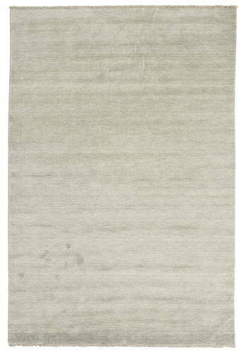 Handloom fringes - Grey / Light Green carpet CVD13995