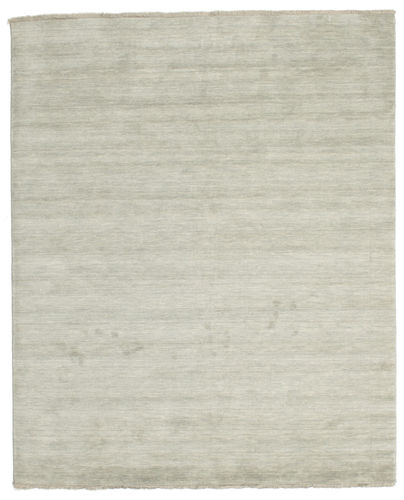 Handloom fringes - Grey / Light Green carpet CVD13999