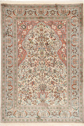 Kashmir pure silk carpet MSA284