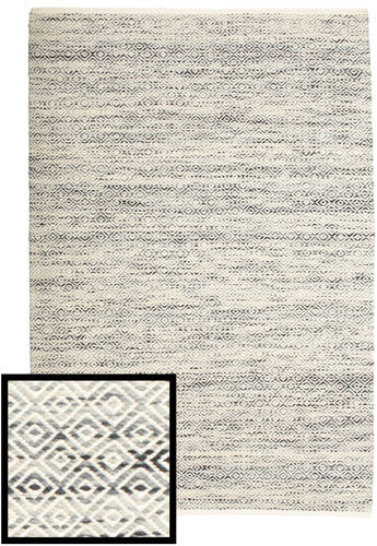 Hugo - Black / Grey rug CVD14458
