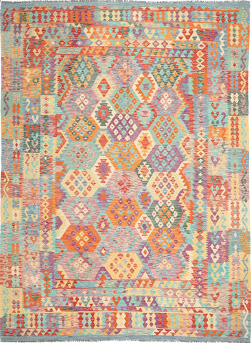 Kilim Afghan Old style carpet ABCS1218