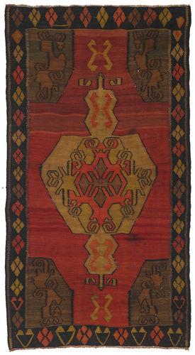Kilim semi antique Turkish carpet NAZA464
