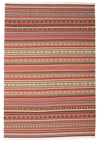 Kelim Dorri Varanasi med fringes teppe CVD15152