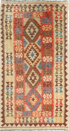 Kilim Afghan Old style carpet ABCS579