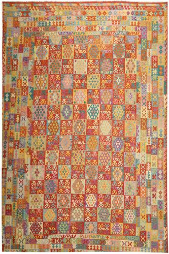 Kilim Afghan Old style carpet ABCS1281