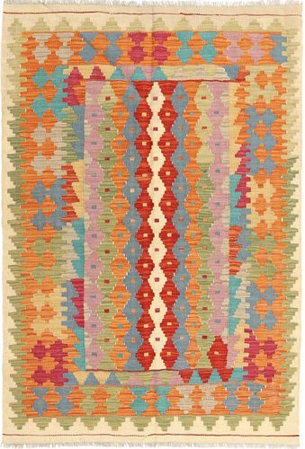 Kilim Afghan Old style carpet AXVA459