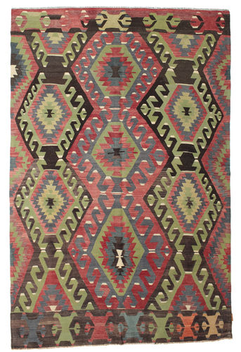 Kilim semi antique Turkish carpet XCGZK574