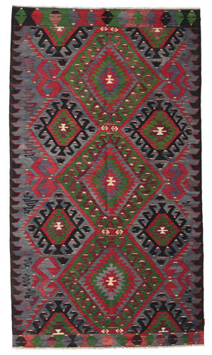 Kilim semi antique Turkish carpet XCGZK98