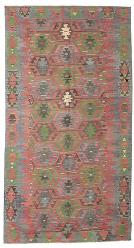 Kilim semi antique Turkish carpet XCGZK86