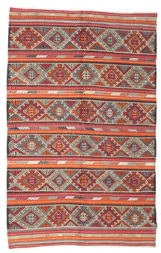 Kilim semi antique Turkish carpet XCGZK38