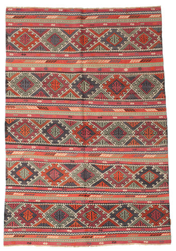 Kilim semi antique Turkish carpet XCGZK26