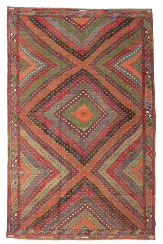 Kilim semi antique Turkish carpet XCGZK145