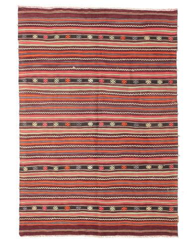 Kilim semi antique Turkish carpet XCGZK1036