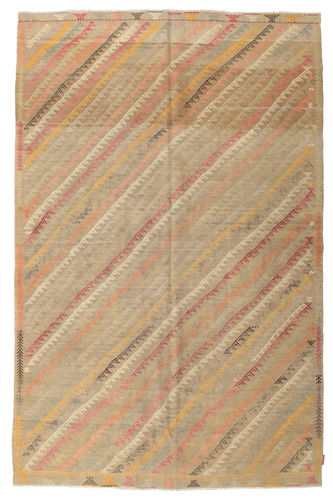Kilim semi antique Turkish carpet XCGZK1023