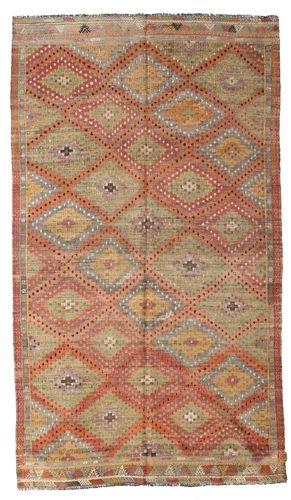 Kilim semi antique Turkish carpet XCGZK852