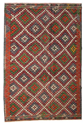 Kilim semi antique Turkish carpet XCGZK540