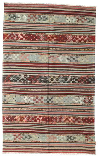 Kilim semi antique Turkish carpet XCGZK468