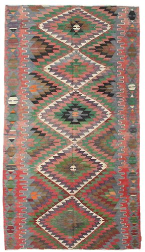 Kilim semi antique Turkish carpet XCGZK1066