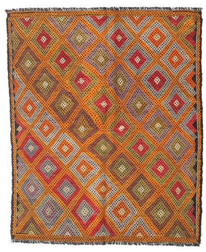 Kilim semi antique Turkish carpet XCGZK370
