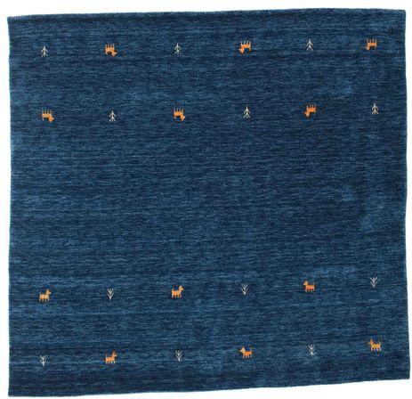 Gabbeh loom Two Lines - Tummansininen-matto CVD14983