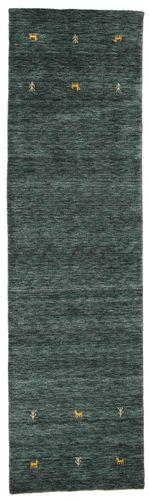 Gabbeh loom Two Lines - Tummanharmaa / Vihreä-matto CVD15081