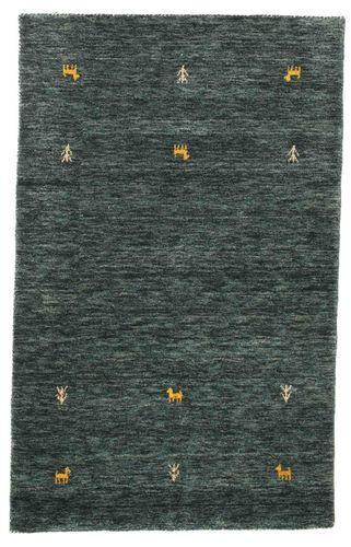 ギャッベ ルーム - 濃いグレー / グリーン 絨毯 CVD15092