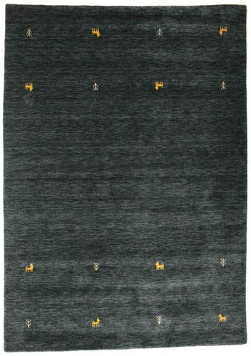 Gabbeh loom Two Lines - Dark Grey / Green carpet CVD15086