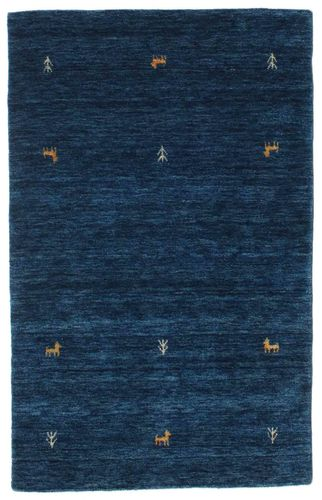 Gabbeh loom Two Lines - Tummansininen-matto CVD14982