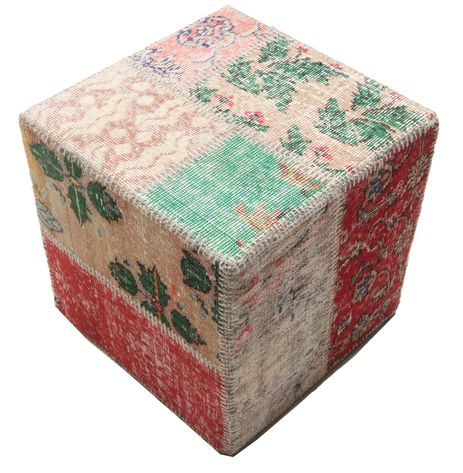 patchwork hocker ottoman 50x50 carpetvista. Black Bedroom Furniture Sets. Home Design Ideas