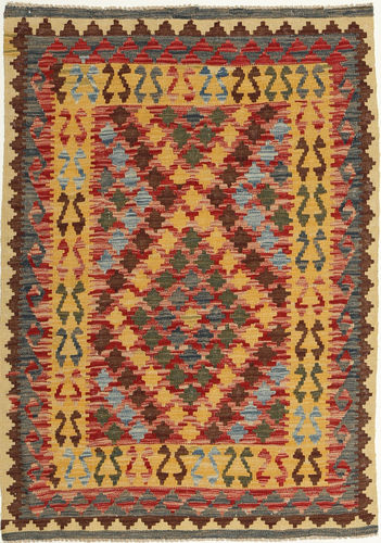 Kilim Afghan Old style carpet AXVQ415