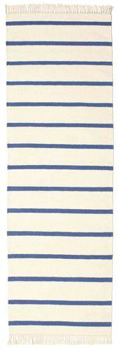 Dhurrie Stripe - White / Blue rug CVD16271