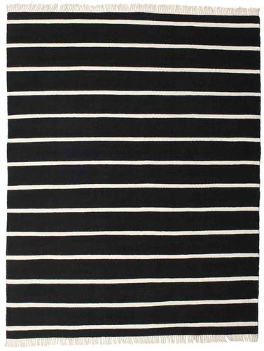 Dhurrie Stripe - Black / White carpet CVD16448