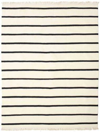 Dhurrie Stripe - White / Black carpet CVD16449