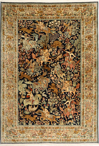 Kashmir pure silk pictorial carpet AXVZH36