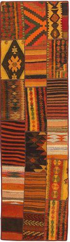 キリム パッチワーク 絨毯 FRKC225