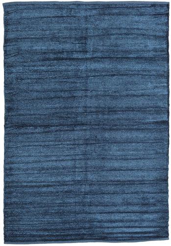 Kelim Chenille - Nachtblau Teppich CVD17146