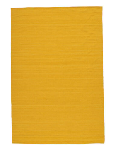 Kelim Loom - Gelb Teppich CVD16863