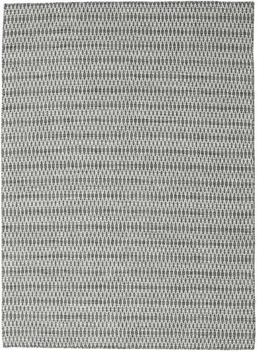 Kilim Long Stitch - Black / Grey carpet CVD18792