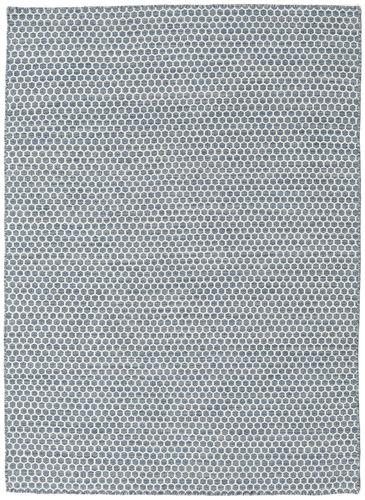Kelim Honey Comb - Blauw tapijt CVD18749