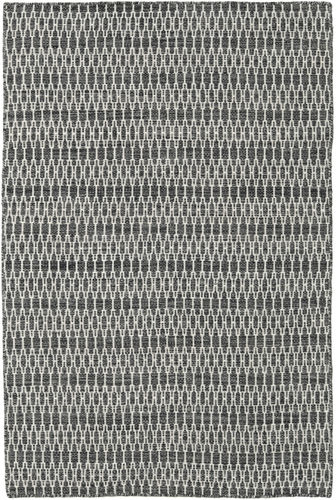 Kilim Long Stitch - Long Stitch Black / Grey carpet CVD18799