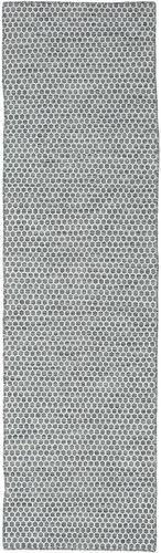 Kelim Honey Comb - Honeycomb Mørk Grå tæppe CVD18757