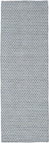 Kelim Honey Comb - Blå teppe CVD18747