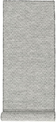 Kilim Goose Eye - Goose Eye Black / Grey carpet CVD18886