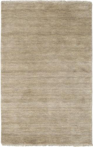 Handloom fringes - Light Grey / Beige carpet CVD16601