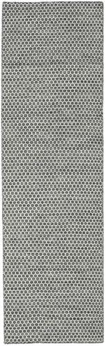 キリム Honey Comb - 黒 / グレー 絨毯 CVD18733