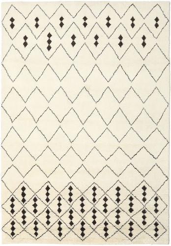 Berber Indisk - Off-White / Svart teppe CVD17649