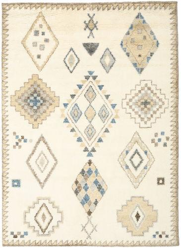 Berber Indisch - Off-Weiß / Beige Teppich CVD17660